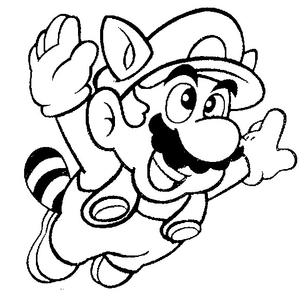 mega mario coloring pages - photo#7