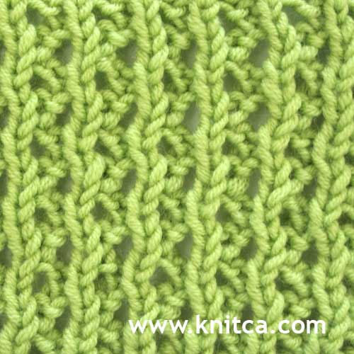 Knitting Reversible Lace Stitches : knitca: September 2012
