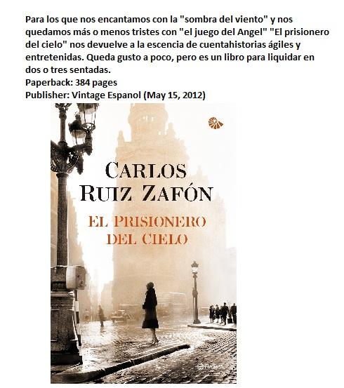 El prisionero del Cielo-Carlos Ruiz Zafón