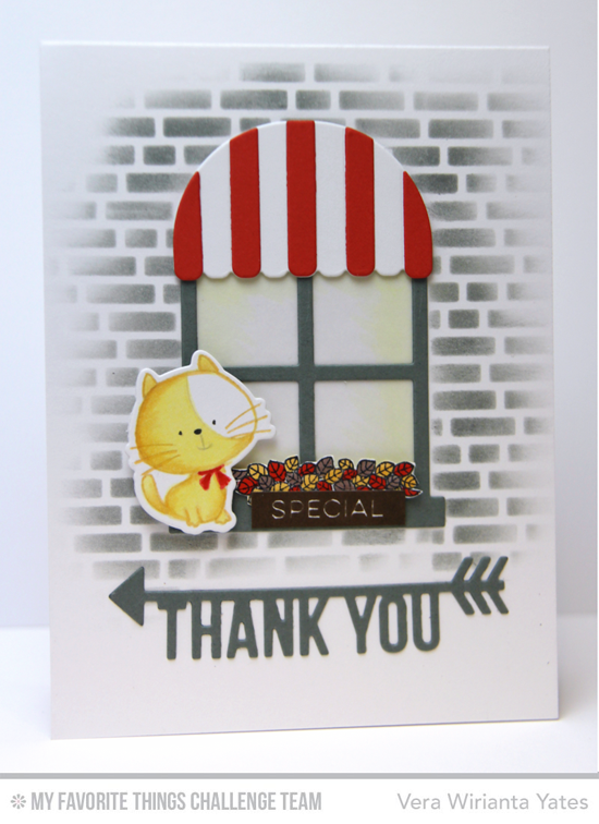 Special Thank You Card by Vera Wirianta Yates featuring the Birdie Brown I Knead You stamp set and Die-namics and the Boutique WIndow and Arrow Greetings Die-namics #mftstamps