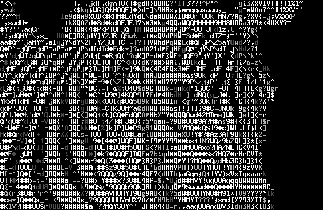 the simplest ascii art is the