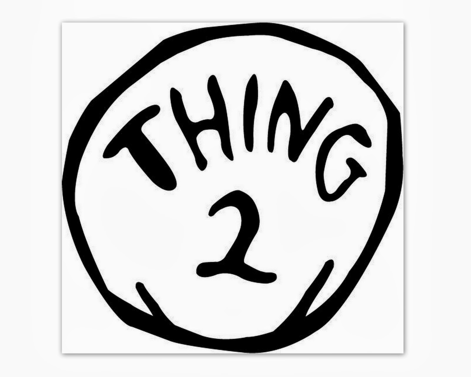 Persnickety image with regard to thing 1 and thing 2 printable template