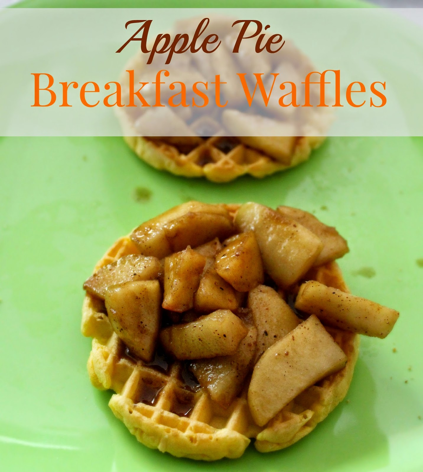 Apple Pie Breakfast Waffles recipe #4MoreWaffles #shop