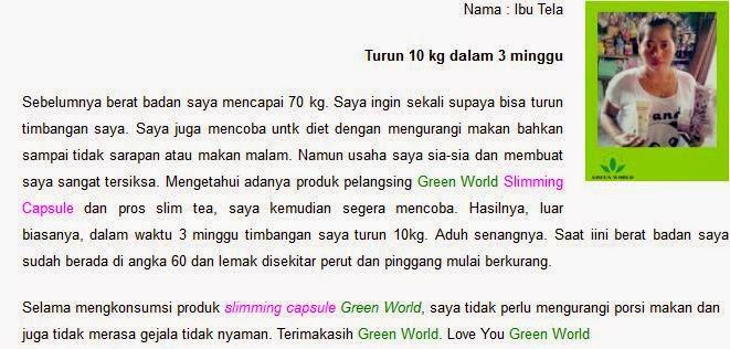 Manfaat Slimming Capsule Green World Julia Linneas