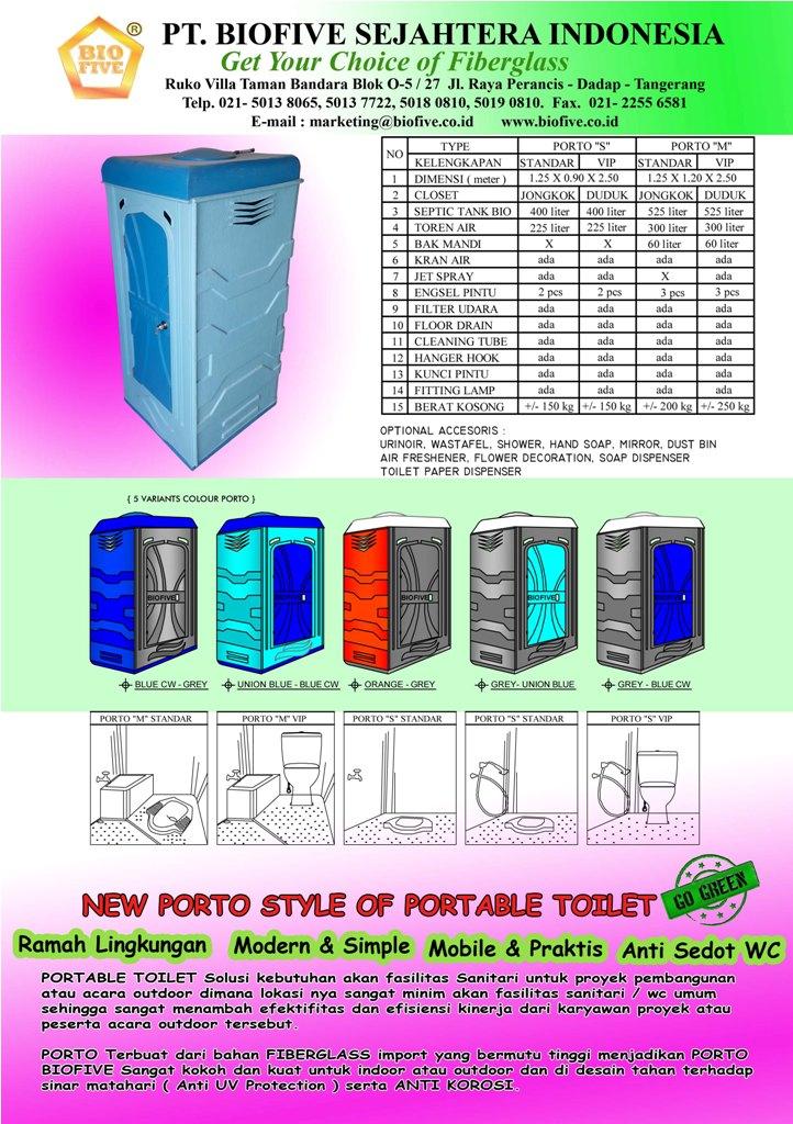 Toilet Portable New Porto Style