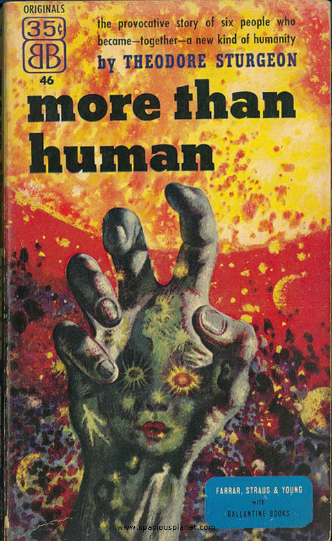 awesome classic sci-fi book cover  Theodore Sturgeon More Than Human