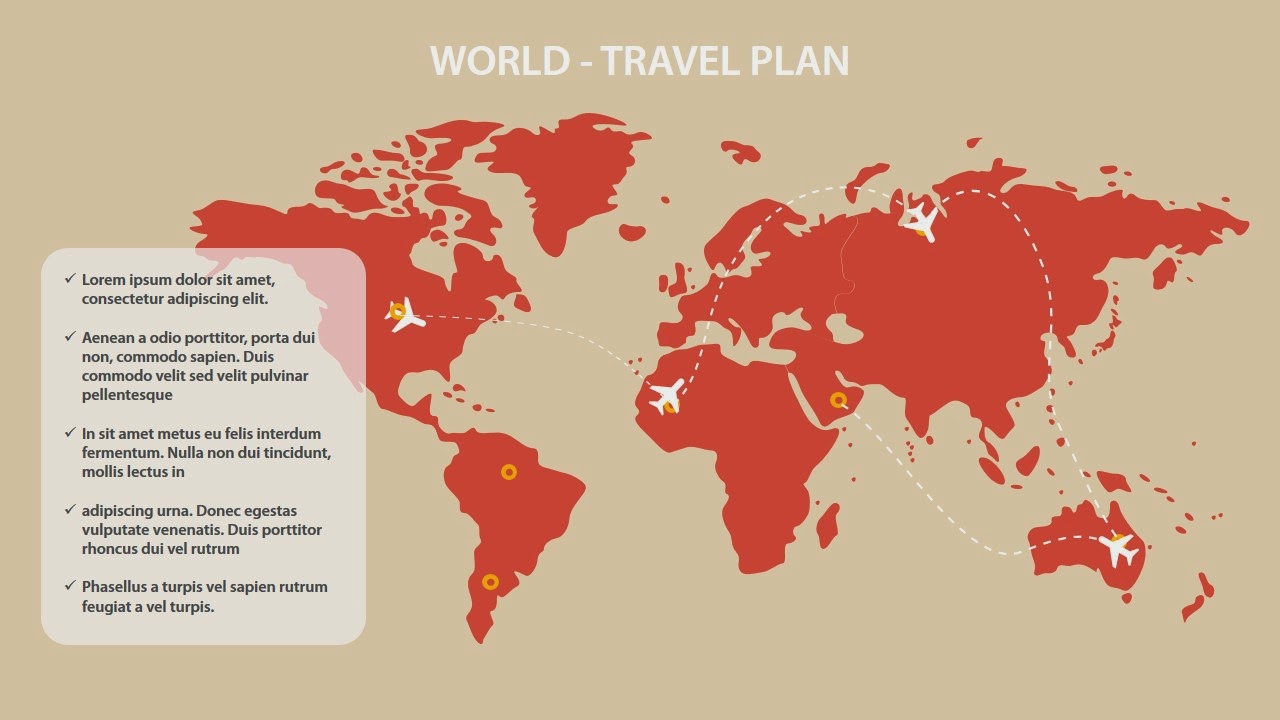 World maps with animated air planes powerpoint diagram slidey store gumiabroncs Image collections