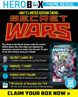 Secret Wars Hero Boxes for Men and Women