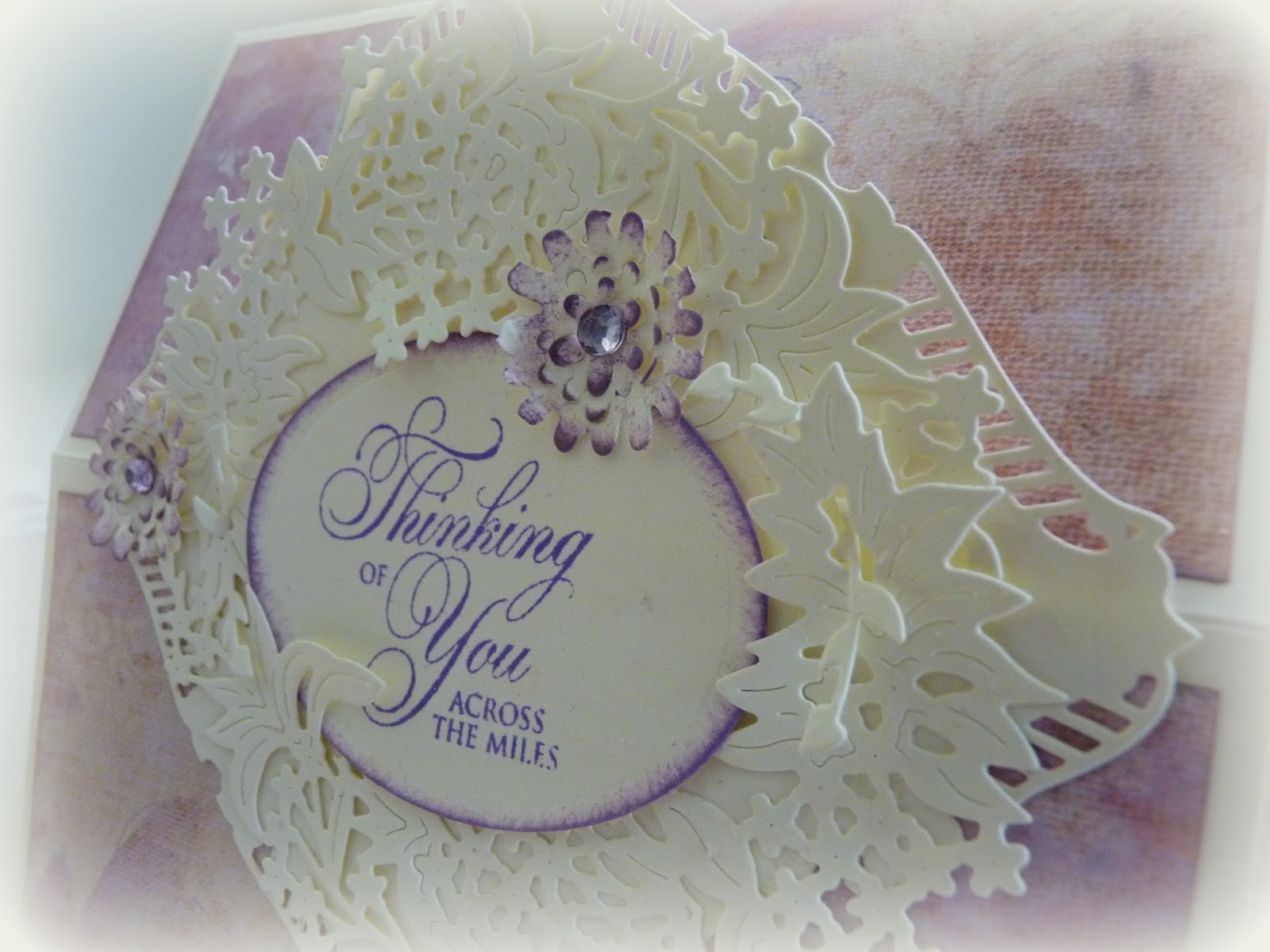 A Soul\'s Heartbeat: Tattered Lace Easel Card