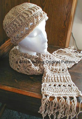 Crochet Stitches Sampler : Stitch n Frog: Crochet Stitch Sampler Hat & Scarf