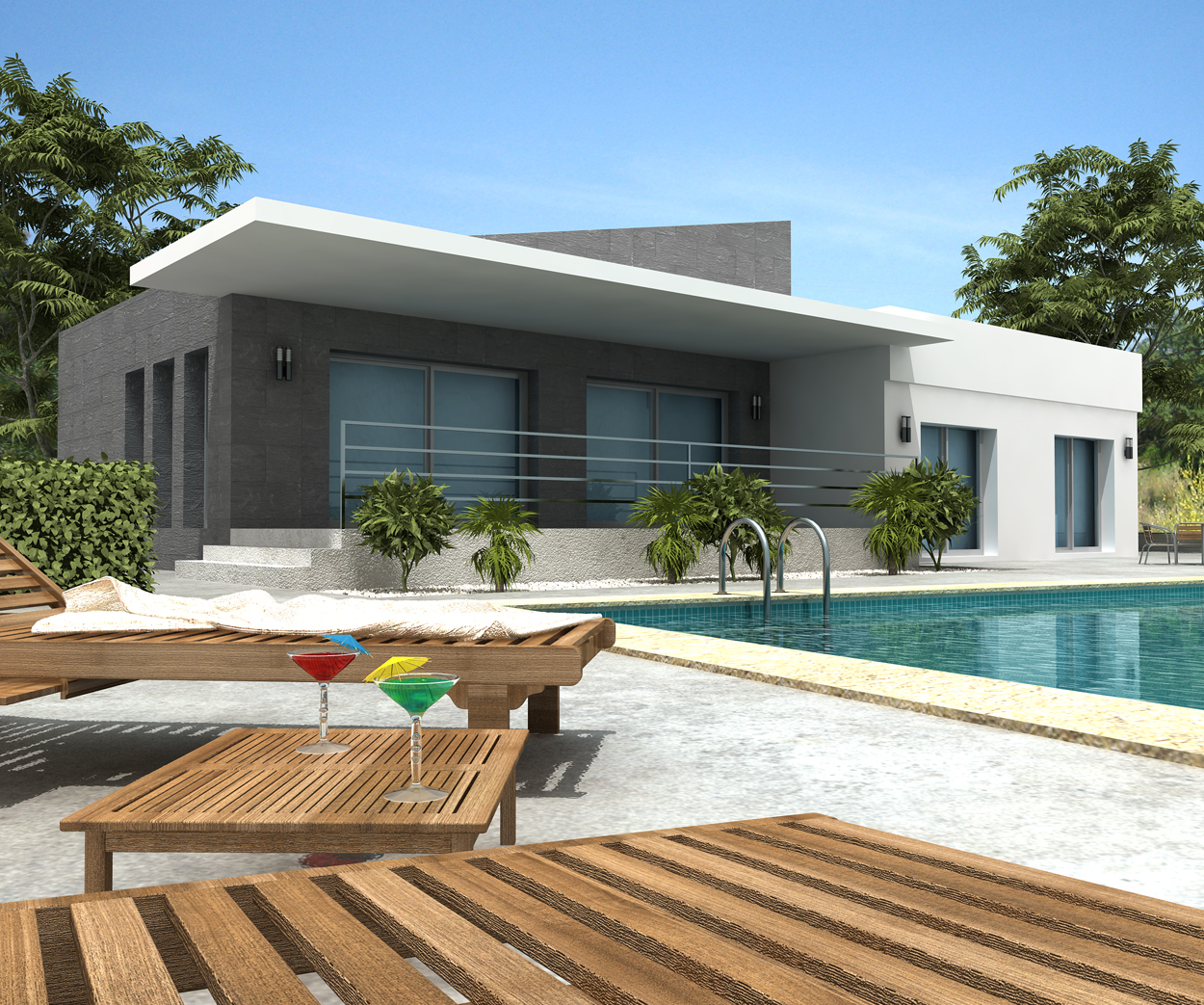 New home designs latest modern villa designs for Plan villa moderne