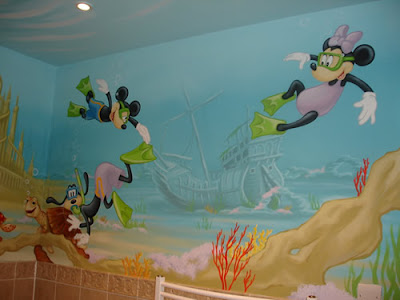 myckey mouse mural wall ideas