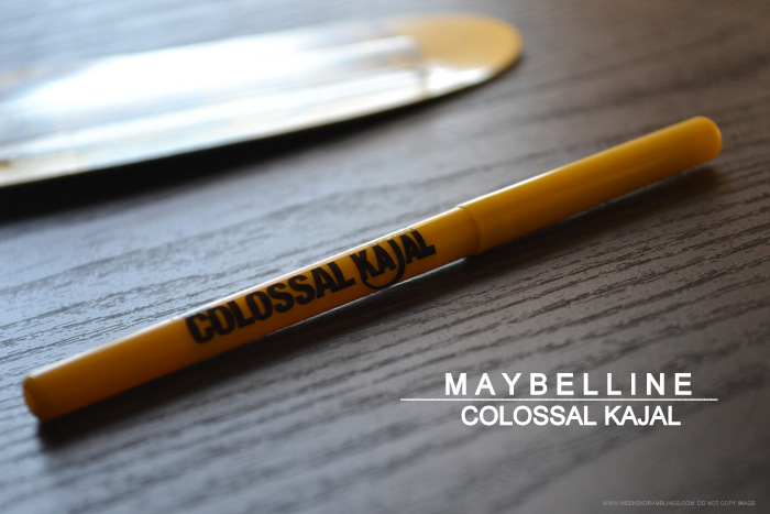 Maybelline India 12 Hour Smudge-Proof Deepest Black Colossal Kajal Pencil Eyeliner - Photos, Swatches, Review, FOTD