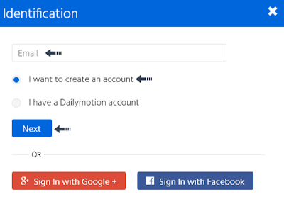 create dailymotion account