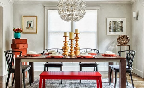 pasangan meja dan kursi untuk ruang makan rumah idaman
