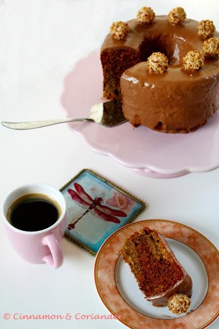 Nuss Nougat Kuchen mit Eierlikör