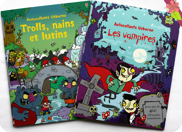 "Autocollants Usborne : ""Les vampires"" et ""Trolls, nains et lutins"""