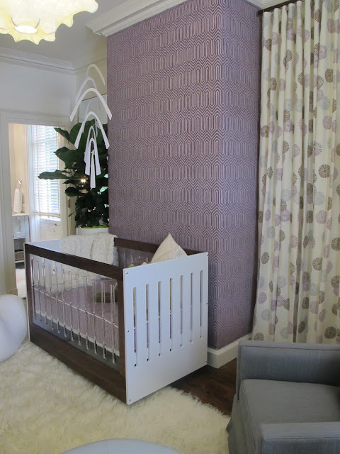 The Fabulous Nursery Decorated By Musso Design Group Love Lee Jofa Fabric On Curtains Upholstered Wall Is Duralee