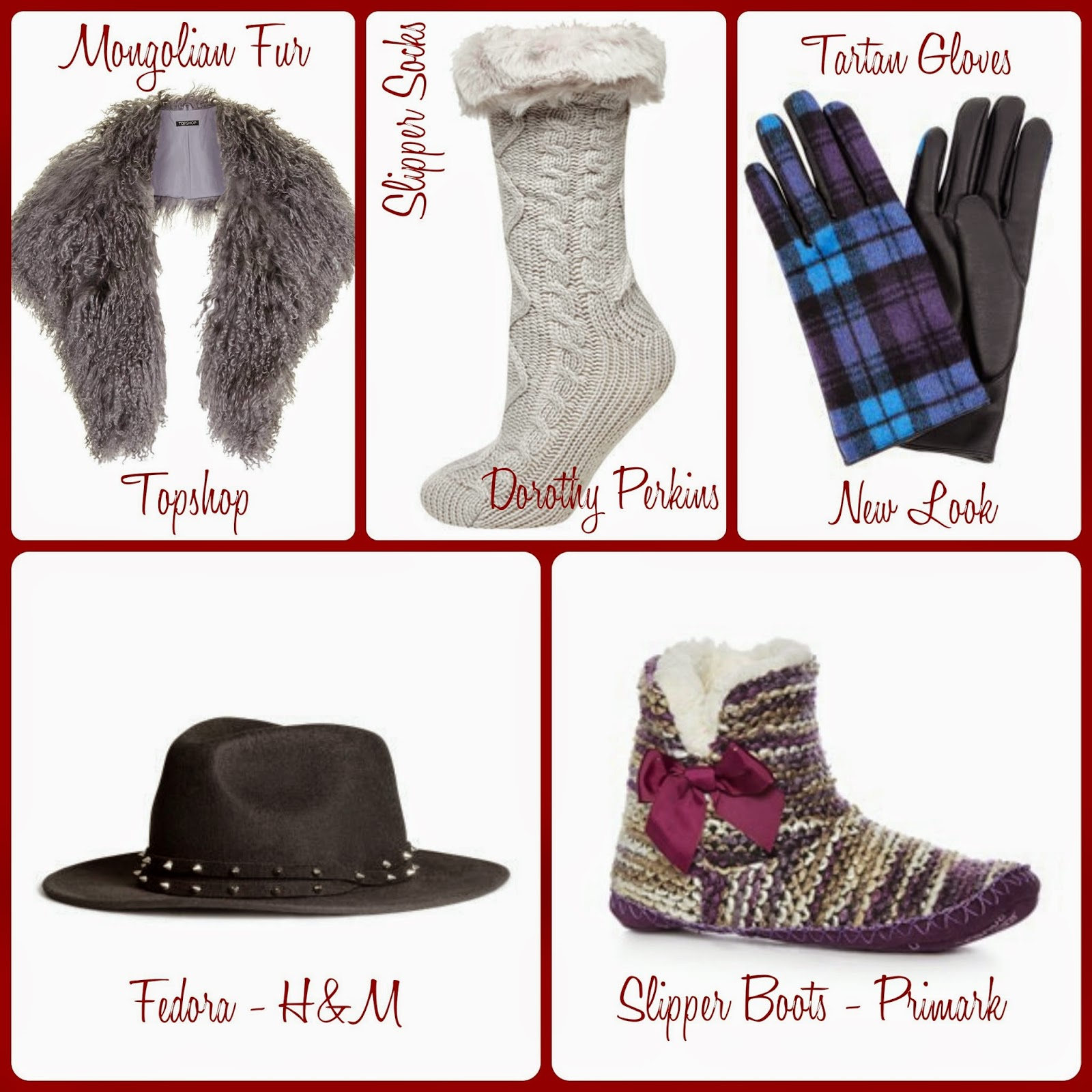 Winter Accessories Collage