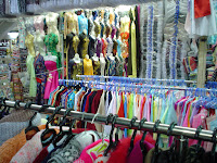 Clothing shops of Vietnam street markets