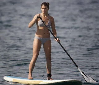 English: Danica Patrick Krypton Bikini Paddleboarding Hawaii