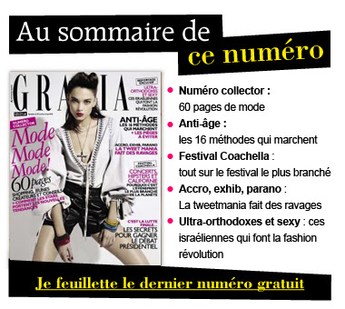 Feuilletez en ligne le dernier numéro du magazine Grazia bon plan