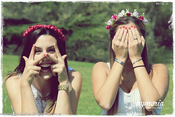 Vinchas con flores 2014. Nymeria primavera verano 2014.