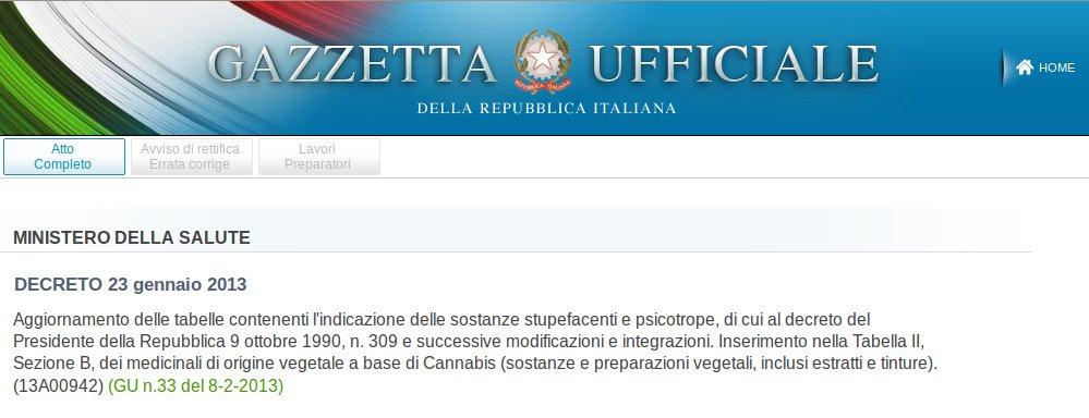 marihuana italia