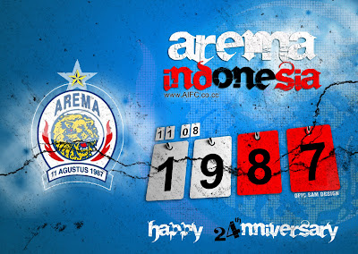 Wallpaper Logo Arema Malang Indonesia ISL Edisi 11 Februari 2013