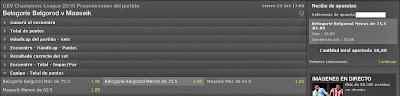 Apuestas Deportivas Rosberg Voleibol – Champions League Belgorod Maaseik Bet365