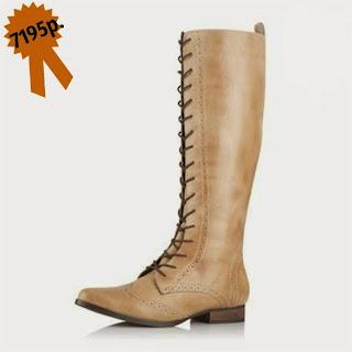 Высокие кожаные сапоги на шнуровке 3suisses