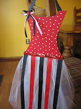 Lady Bug Tutu Bow Holder