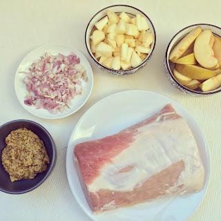 rôti de porc farci aux pommes