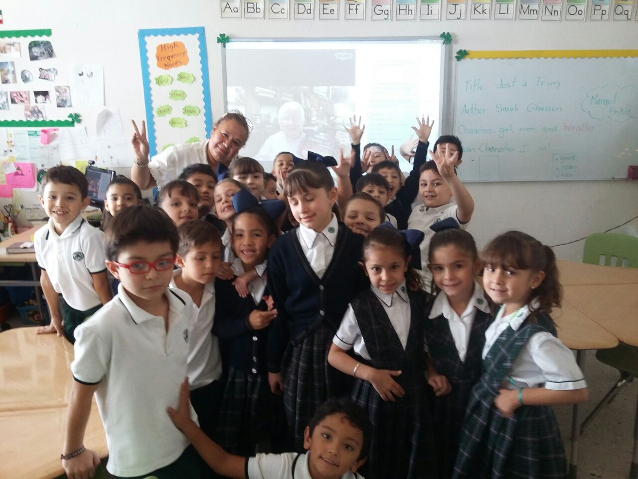 Margot Visits a Classroom via SKYPE