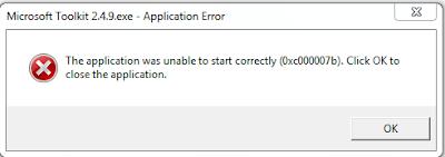 Cara Mengatasi Error 0xc00007b Windows 7 32bit dan 64bit