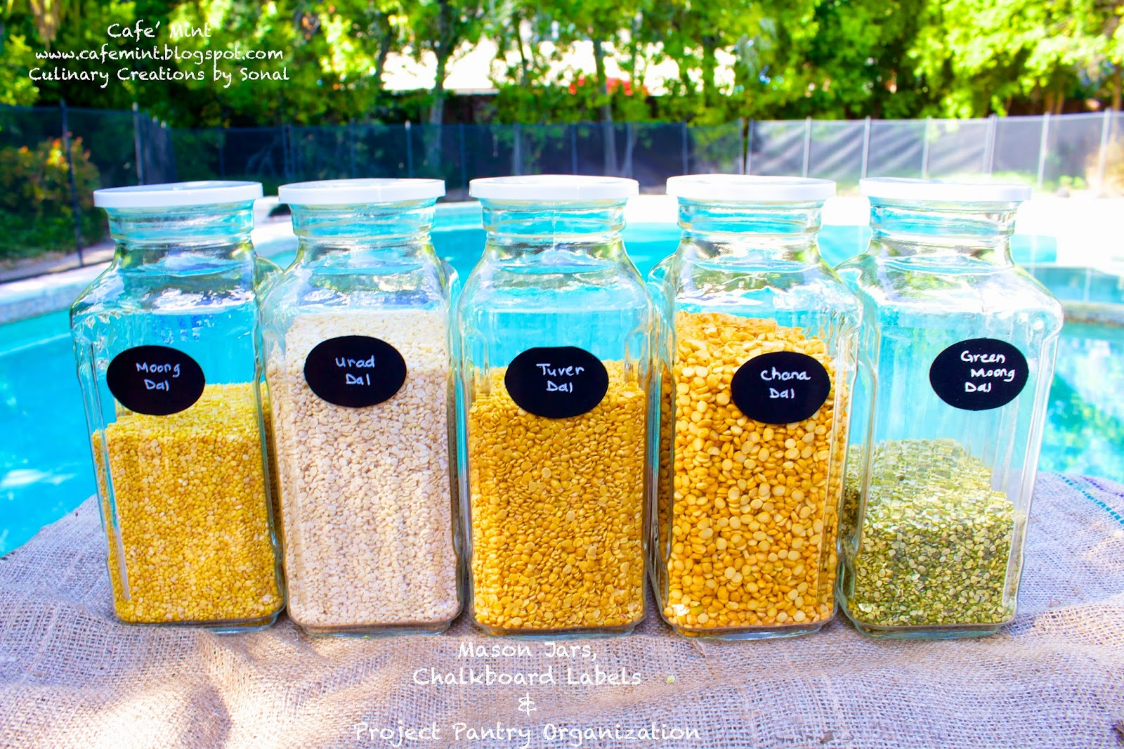 Mason Jars Chalkboard Labels and Project Pantry