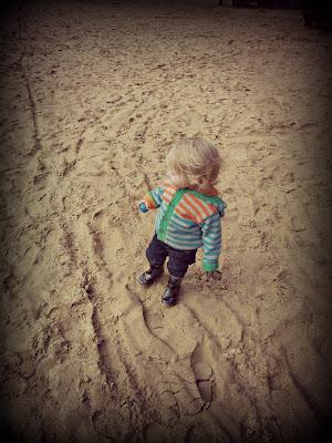 small boy on the beach