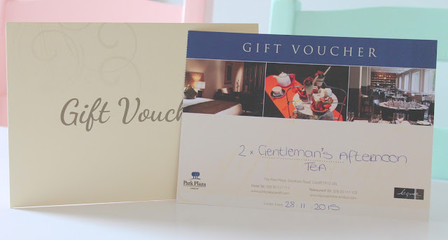 Gift voucher for Park Plaza Gentleman's Afternoon Tea