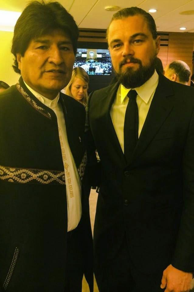 Evo Morales y Leonardo Dicrapio-cochabandido-blog