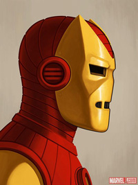 Mondo Iron Man Silver Age Print by Mike Mitchell