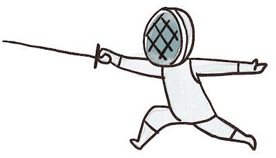 フェンシングの選手のイラスト(スポーツ)