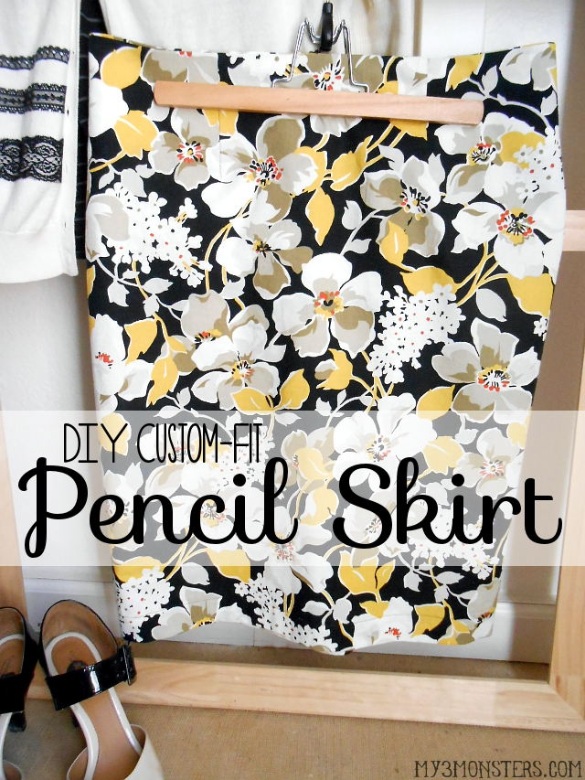 DIY Custom-Fit Pencil Skirt at my3monsters.com