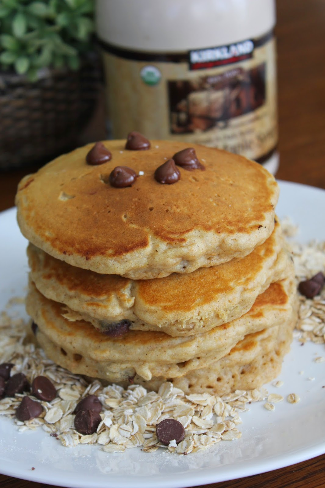 ... breakfast recipes, Oatmeal Chocolate Chip Pancakes, Deals to Meals