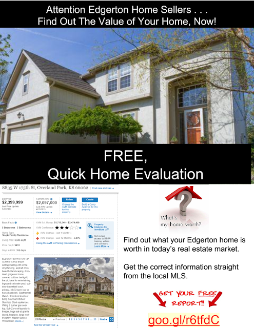 Find out the value of your home in Edgerton Kansas