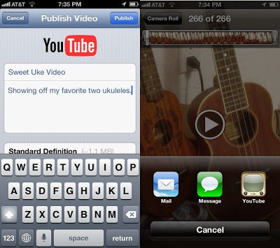 Share Videos iPhone