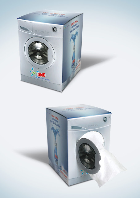 OMO: Washing machine tissue box