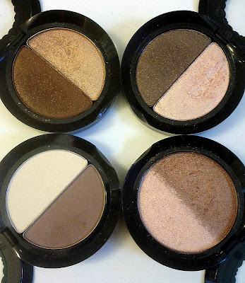 Too Faced Eye Shadow Duos Cocoa Puff/Honey Pot, Erotica/Silk Teddy, Totally Toasted, Teddy Bear/Heaven