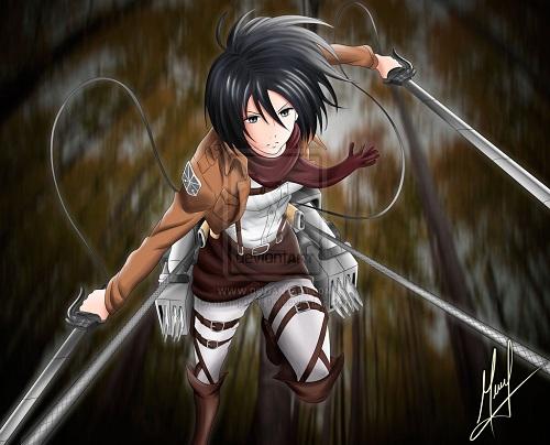 Di Anime Shingeki No Kyojin Atau Attack On Titan Mikasa Berasal Dari Keluarga Keturunan Ackerman Yang Memiliki Kemampuan Lebih Kuat Dibanding