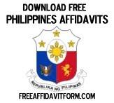 Free Philippines Affidavit Form
