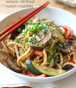 Korean Stir-Fried Udon Noodles recipe
